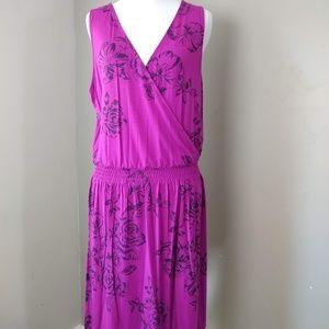 Caslon | Sleeveless Purple Floral Dress